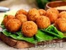 Рецепта Панирани топчета от сирене моцарела